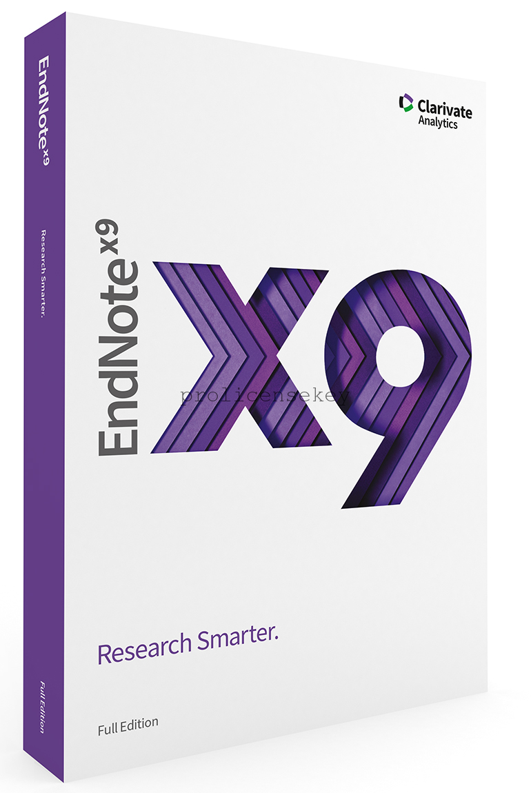 EndNote X9.3.3.13966 Crack + Product Key [ Latest Version ]Download 2021